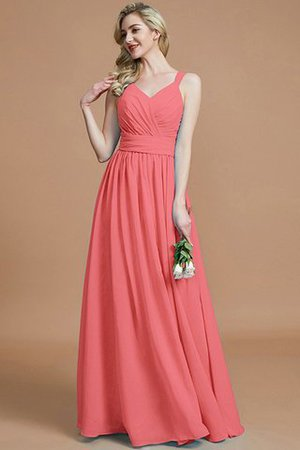 Sleeveless Natural Waist A-Line V-Neck Bridesmaid Dress - 34