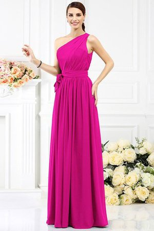 Long Sleeveless A-Line One Shoulder Bridesmaid Dress - 10