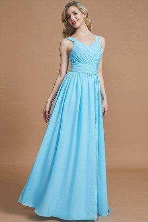 Sleeveless Natural Waist A-Line V-Neck Bridesmaid Dress - 6