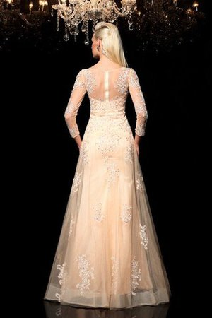 Princess Long Sleeves Zipper Up Appliques Floor Length Wedding Dress - 2