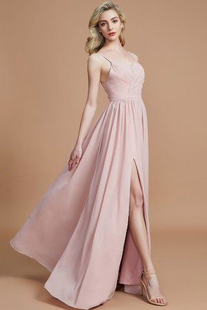 Natural Waist Sleeveless Floor Length Princess Chiffon Bridesmaid Dress - 6