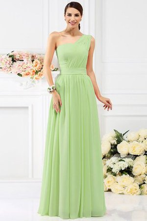 Pleated Long A-Line One Shoulder Bridesmaid Dress - 26