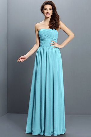Strapless A-Line Pleated Zipper Up Bridesmaid Dress - 3