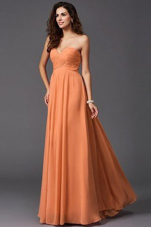 A-Line Sleeveless Chiffon Empire Waist Bridesmaid Dress - 21