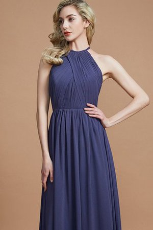 Sleeveless Floor Length A-Line Scoop Bridesmaid Dress - 2