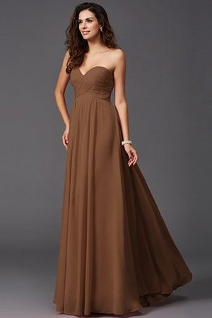 A-Line Sleeveless Chiffon Empire Waist Bridesmaid Dress - 6