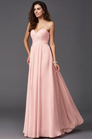 A-Line Sleeveless Chiffon Empire Waist Bridesmaid Dress - 20