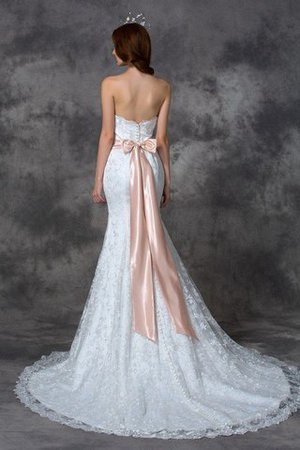 Backless Mermaid Lace Court Train Wedding Dress - 2