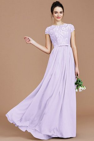 A-Line Jewel Lace Short Sleeves Bridesmaid Dress - 25