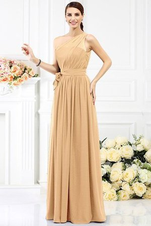 Long Sleeveless A-Line One Shoulder Bridesmaid Dress - 11