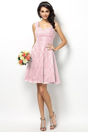 Wide Straps Short Sleeveless Natural Waist Satin Bridesmaid Dress - 22