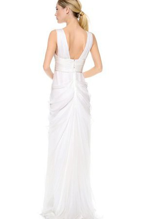 Long Zipper Up Floor Length Ruffles Taffeta Wedding Dress - 2