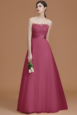 Tulle Zipper Up A-Line Appliques Bridesmaid Dress - 12