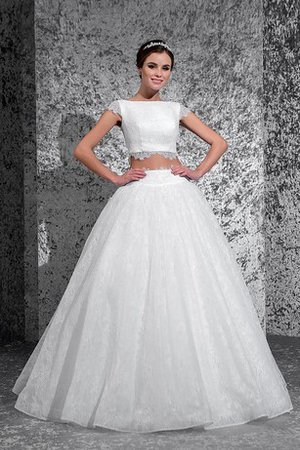 Ball Gown Informal & Casual Lace Capped Sleeves Wedding Dress - 1