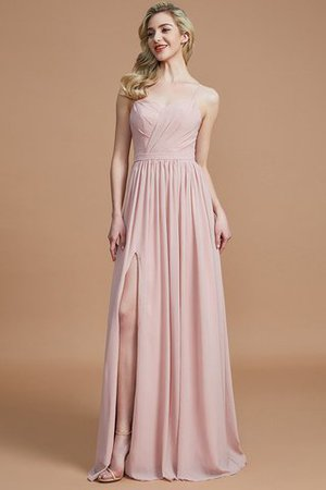 Natural Waist Sleeveless Floor Length Princess Chiffon Bridesmaid Dress - 1