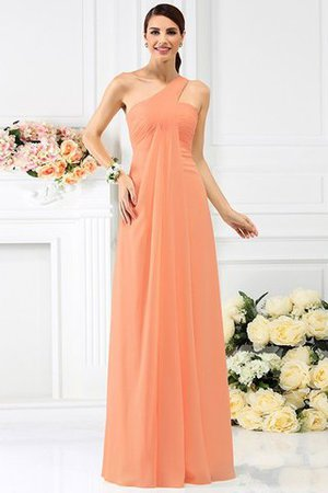 Zipper Up Long Floor Length A-Line Bridesmaid Dress - 20