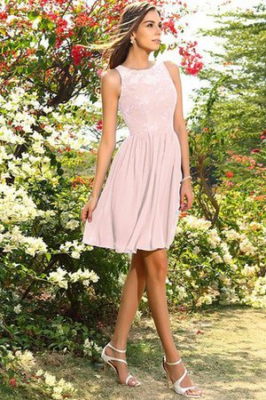 A-Line Natural Waist Sleeveless Chiffon Short Bridesmaid Dress - 21