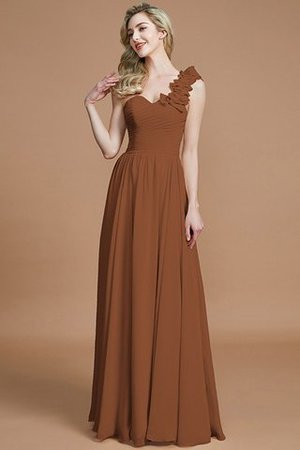 Sleeveless Natural Waist One Shoulder A-Line Chiffon Bridesmaid Dress - 9