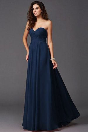 A-Line Sleeveless Chiffon Empire Waist Bridesmaid Dress - 9