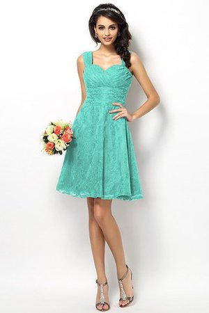 Wide Straps Short Sleeveless Natural Waist Satin Bridesmaid Dress - 15