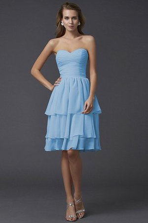 Short Chiffon Sheath Sleeveless Zipper Up Bridesmaid Dress - 4