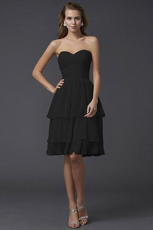 Short Chiffon Sheath Sleeveless Zipper Up Bridesmaid Dress - 2