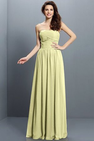 Strapless A-Line Pleated Zipper Up Bridesmaid Dress - 8