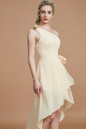 Asymmetrical Chiffon Natural Waist Bridesmaid Dress - 2
