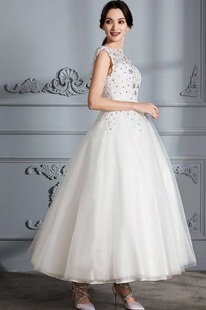 Scoop Sleeveless Ball Gown Tulle Natural Waist Wedding Dress - 5