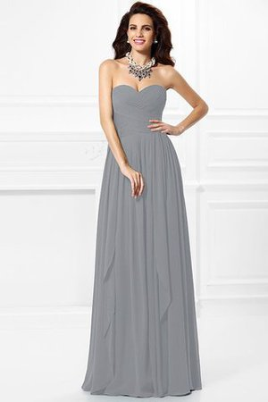 A-Line Zipper Up Long Floor Length Bridesmaid Dress - 28