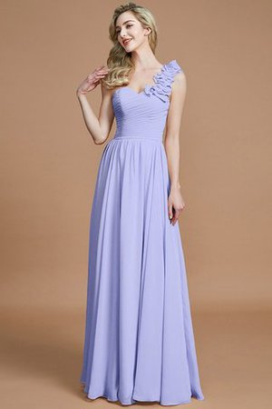 Sleeveless Natural Waist One Shoulder A-Line Chiffon Bridesmaid Dress - 21