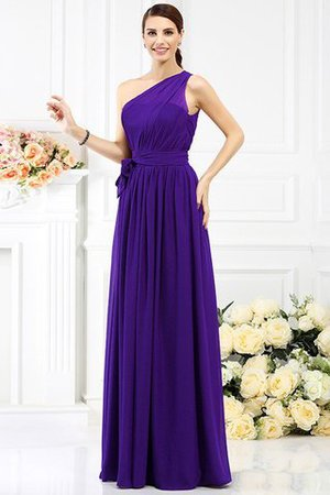 Long Sleeveless A-Line One Shoulder Bridesmaid Dress - 26