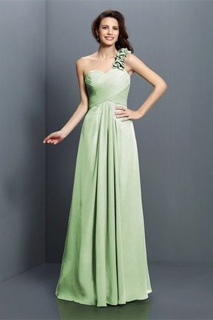 Zipper Up One Shoulder Chiffon A-Line Bridesmaid Dress - 26
