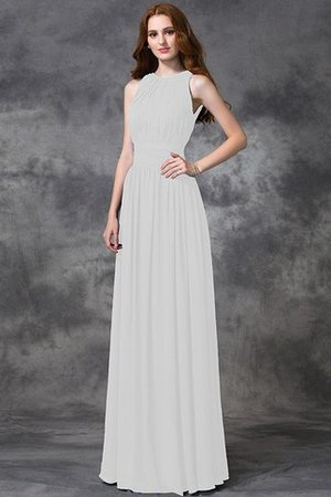 Sleeveless Ruched Natural Waist Chiffon Long Bridesmaid Dress - 16