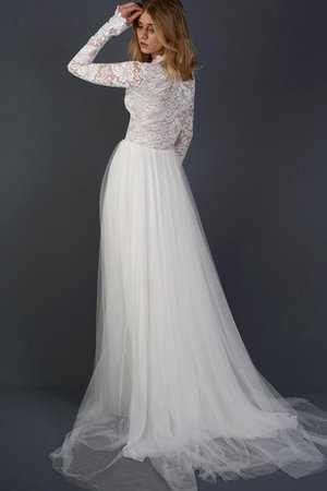 Simple Zipper Up Long Sleeves Informal & Casual Wedding Dress - 2