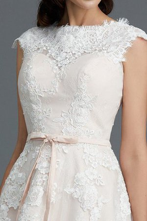 Bateau Natural Waist Sleeveless Knee Length A-Line Wedding Dress - 9