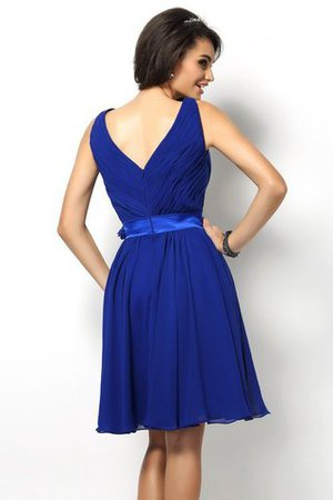 Draped A-Line V-Neck Natural Waist Bridesmaid Dress - 30