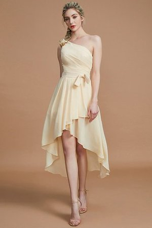 Asymmetrical Chiffon Natural Waist Bridesmaid Dress - 11