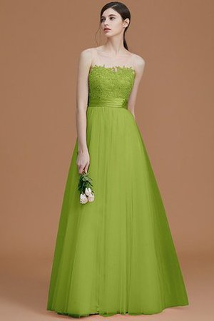 Tulle Zipper Up A-Line Appliques Bridesmaid Dress - 20