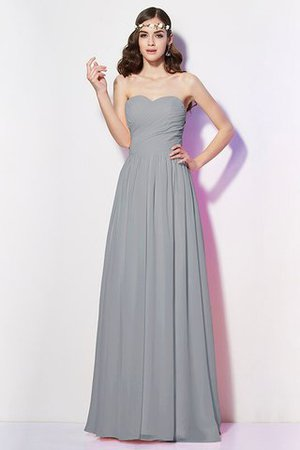 Pleated Zipper Up Empire Waist A-Line Bridesmaid Dress - 28