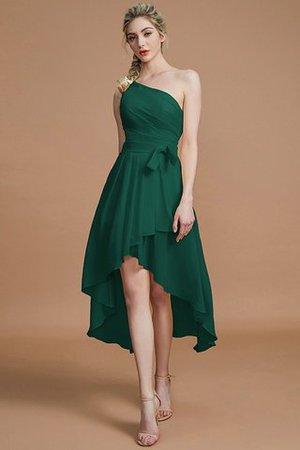 Asymmetrical Chiffon Natural Waist Bridesmaid Dress - 14