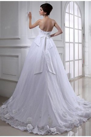Flowers Lace-up Sashes Sleeveless Wedding Dress - 2