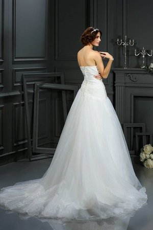 Court Train Sleeveless A-Line Sweetheart Beading Wedding Dress - 3