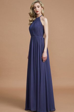 Sleeveless Floor Length A-Line Scoop Bridesmaid Dress - 3