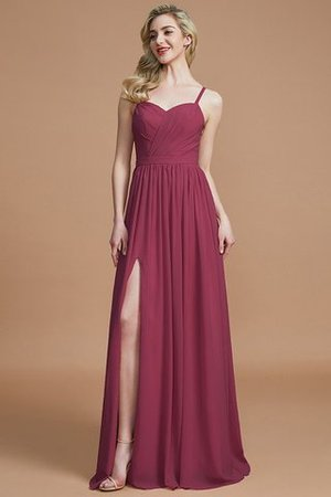 Natural Waist Sleeveless Floor Length Princess Chiffon Bridesmaid Dress - 10