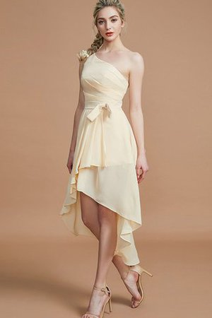 Asymmetrical Chiffon Natural Waist Bridesmaid Dress - 4