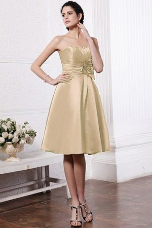 Zipper Up Princess Short Flowers Pleated Bridesmaid Dress - 12