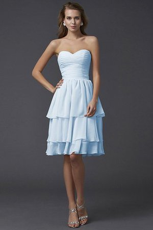 Short Chiffon Sheath Sleeveless Zipper Up Bridesmaid Dress - 18