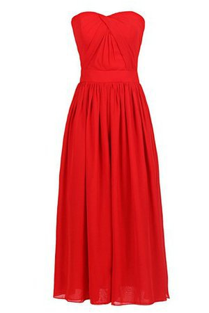 Elegant & Luxurious Natural Waist A-Line Chiffon Zipper Up Bridesmaid Dress - 2