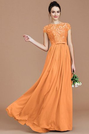 A-Line Jewel Lace Short Sleeves Bridesmaid Dress - 26